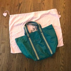 Teal. Lue Juicy Couture Beach Tote & Dust Bag